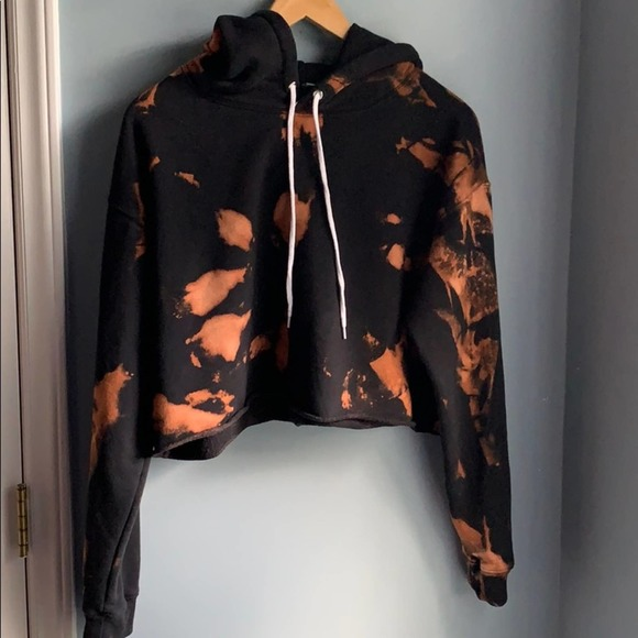 Wild Fable |  Bleached Dyed Cropped Hoodie Large